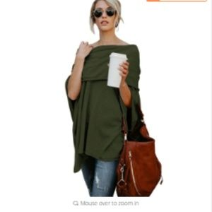 Sweaters - NEW Off Shoulder Loose Knit Top Sweater